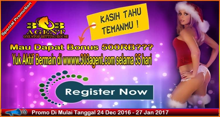 Bonus Freebet Special Imlek 2017 Bonus Freebet Special Imlek 2017 Bonus Freebet Special Imlek 2017- Selamat datang di 303Agent.com Kabar gembira untuk para
