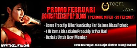 Bonus Freechips 10.000 Dari TOGELJAYA