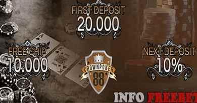 Bonus Freebet 10000 dari CrownPoker88 & Bonus Deposit perdana 20.000