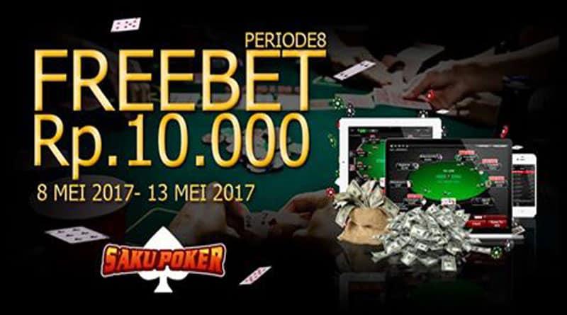 Freechips 10000 dari SakuPoker Tanpa Deposit 08 Mei hingga 13 Mei 2017