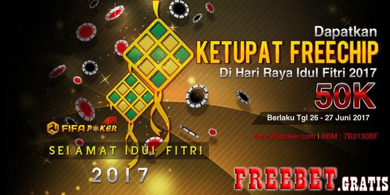 Freebet Ketupat Special Idul Fitri 2017 Dari FIFAPOKER.com Freebet Bola | Freebet Gratis FIFAPOKER.com Merupakan Agen Bandar Ceme Online Terpercaya dari Fif