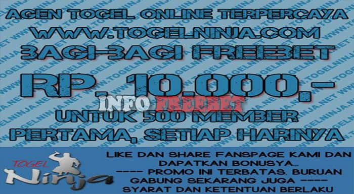 Promo Freebet Like Dan share Facebook Dari TogelNinja