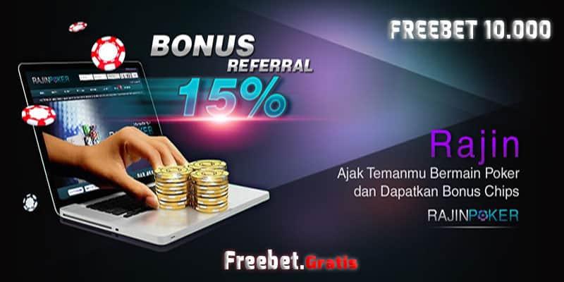 Freebet Gratis Buat kamu Rp 10.000 Syarat Mudah RajinPoker.com