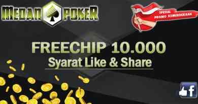 MedanPoker - Promo Freechip Rp 10.000 & Lomba Hut RI Ke 72 Gratis