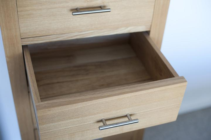 Image of Empty open wooden drawer in a cabinet  Freebie