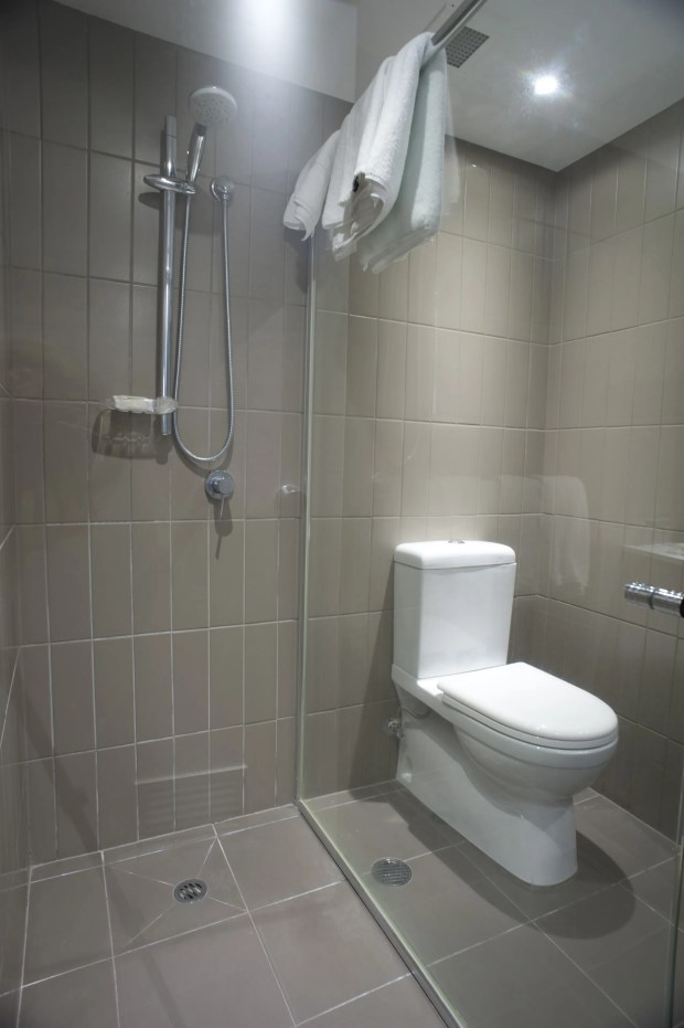 Small Bathroom with Shower and Toilet