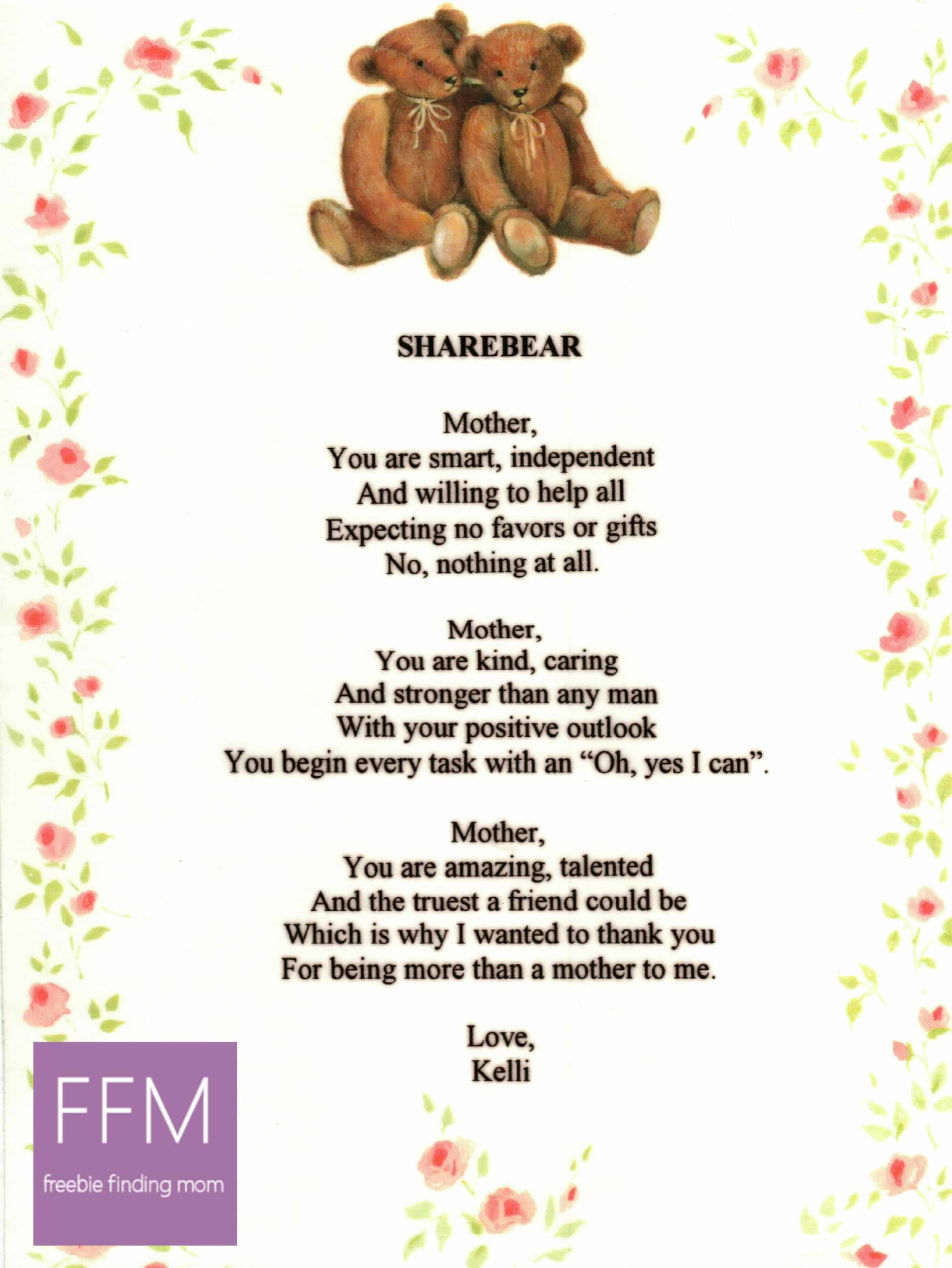 A Mother S Day Poem Mother S Day T Ideas