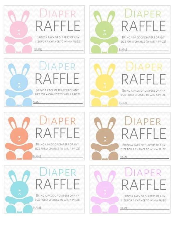 Diaper Raffle Tickets Printable : diaper, raffle, tickets, printable, Printable, Diaper, Raffle, Tickets