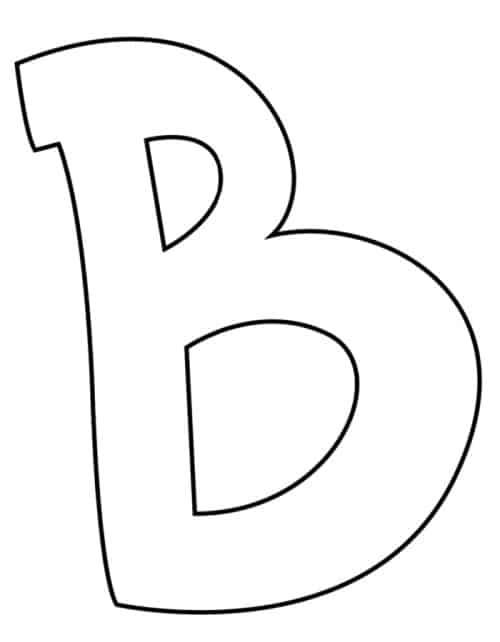 Letter B Bubble Letter : letter, bubble, Graffiti, Bubble, Letter, Printable, Freebie, Finding
