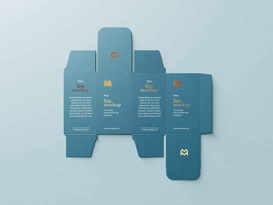 Download Free Unfolded Packaging Box Mockup - Free Mockups | Freebiefy