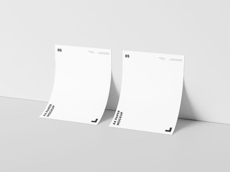 Download Free A4 Paper Against Wall Mockup - PSD Mockups ...
