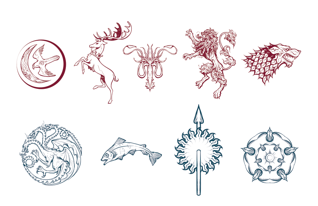 Game Of Thrones Sigil Pack - Exclusive Freebie - Freebie Jar