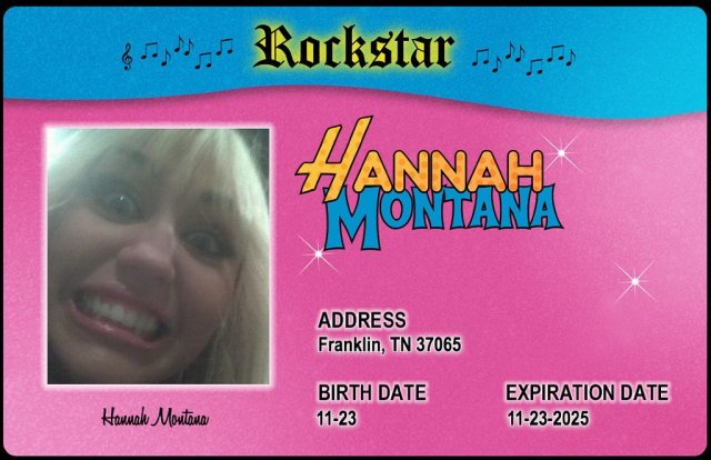 The Hannah Montana Rockstar ID Generator Lets You Create Your Own Alter Ego