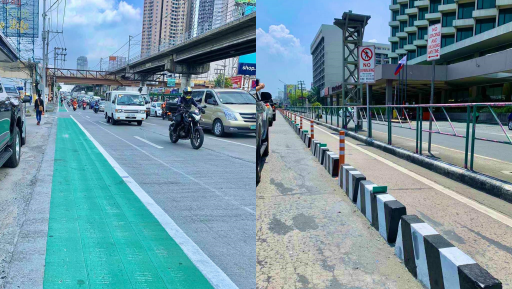 LOOK: Bike lines are now officially part of EDSA