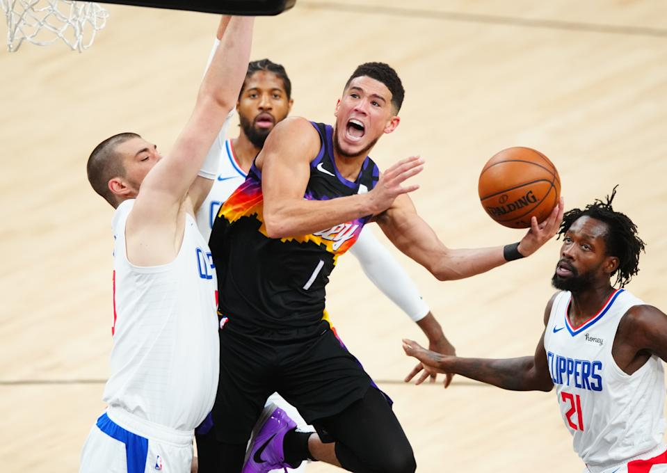 Game 1 of Western Conference Finals Sees Absence of Kawhi Leonard and Chris Paul; Devin Booker Shines