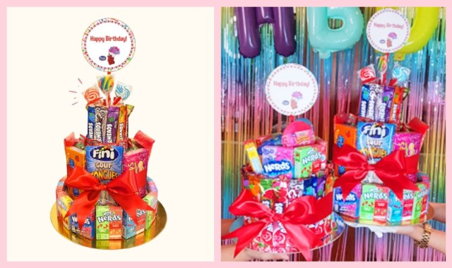Celebrate With A Four-Layer Candy Cake From Candy Corner