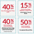 Now through may 11th michaels has a coupon out that is valid for 15
