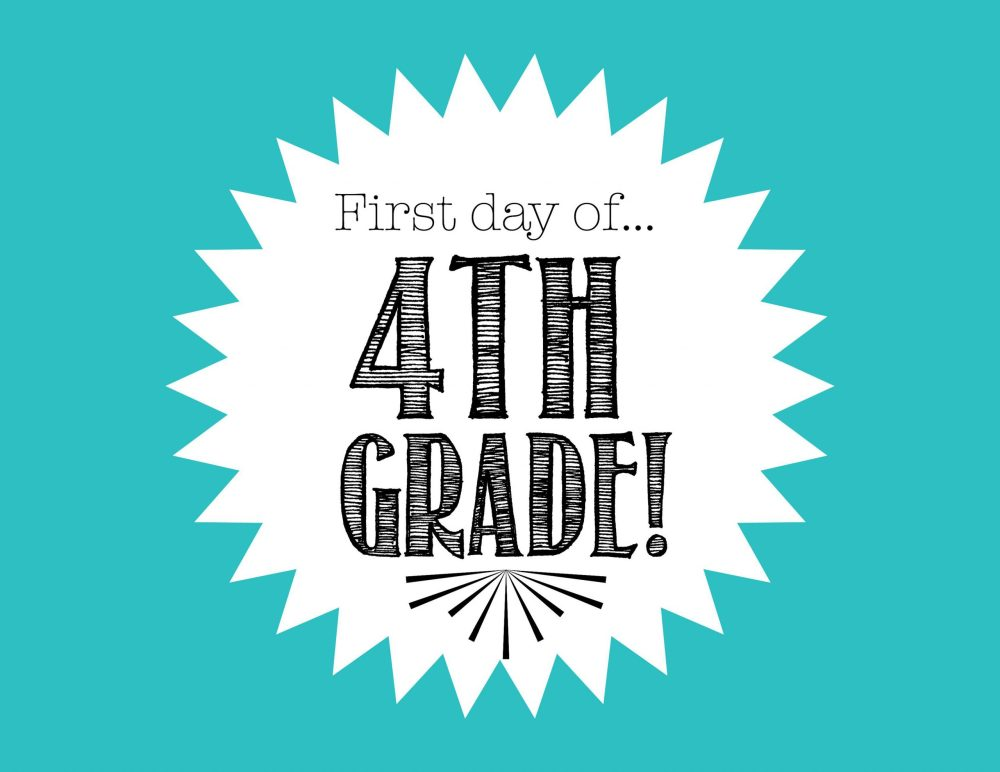 medium resolution of First Day of 4th Grade FREE Back to School Printable - Freebies2Deals