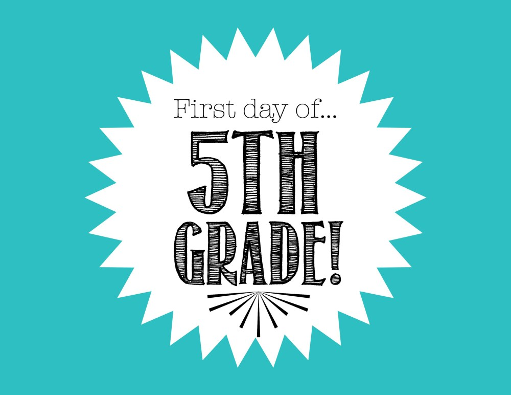 medium resolution of Free First Day of School Printables