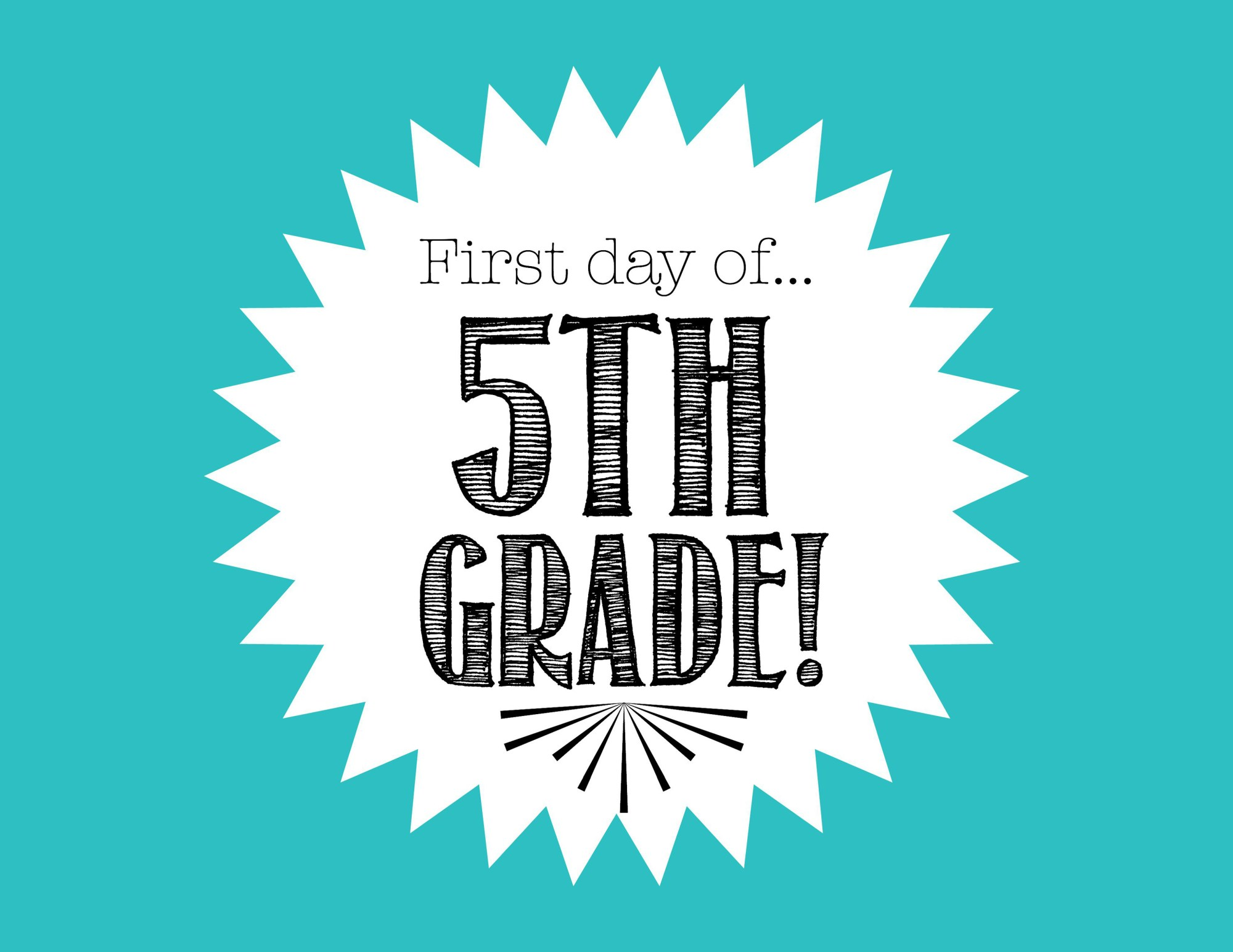 hight resolution of Free First Day of School Printables