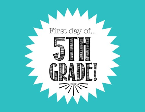 small resolution of Free First Day of School Printables