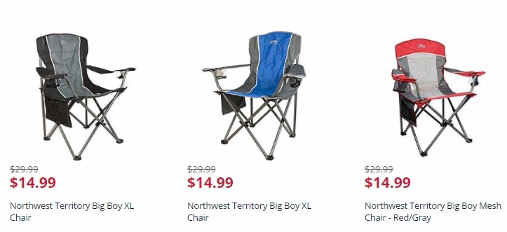 northwest territory chairs cheap wooden big boy xl chair just 14 99 freebies2deals are those lightweight sports too small and uncomfortable spring for a instead normally 29 kmart has