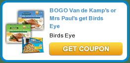 Coupon Buy One Get One Free Van de Kamp's ParchmentBake and Birdds Eye Steamfresh