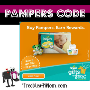 Free Pampers Code (10 pts thru Mar. 20)