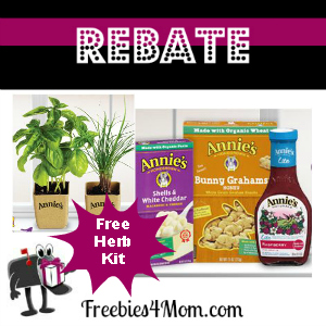 Rebate Free Herb Kit from Annie's