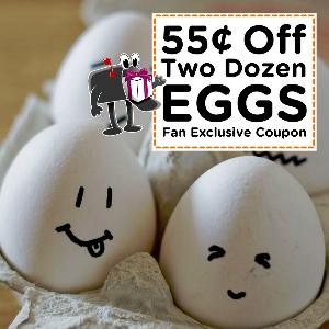 Coupon $0.55 off two dozen Eggs