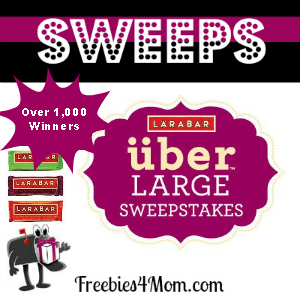 Sweeps LARABAR (Over 1,000 Winners)