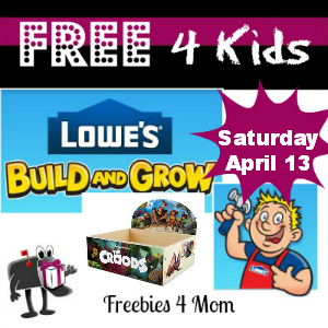 Free The Croods: Planter at Lowes April 13