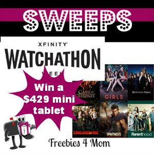 Sweeps XFINITY Watchathon Sweeps