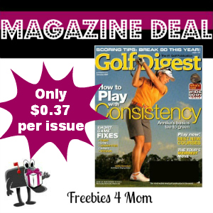 Deal $4.49 for Golf Digest Magazine