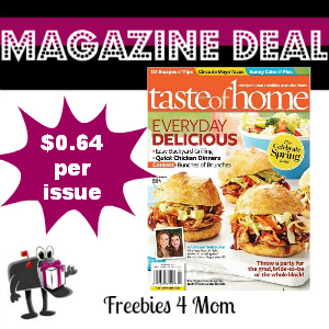 Deal $4.49 for Taste of Home Magazine