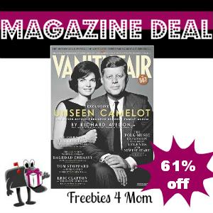 Deal $7.98 for Vanity Fair Magazine