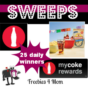 Sweeps My Coke Rewards Coca-Cola and Mission Tortilla Chips IWG