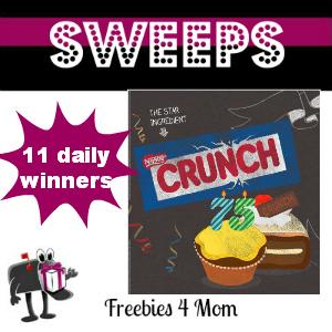 Sweeps Nestle Crunch 75th Birthday Showdown (11 Daily Winners)