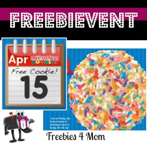 Free Cookie at Great American Cookies April 15
