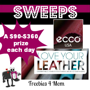 Sweeps ECCO Shoes Love Your Leather (1 Daily Winner)