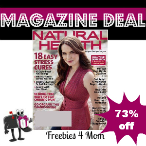 Deal $3.99 for Natural Health Magazine