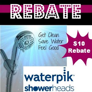 Rebate $10 on Waterpik Showerheads