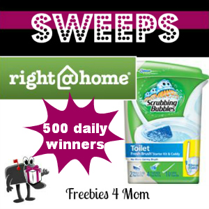 Sweeps Right @ Home Fresh & Clean (500 Daily Winners)