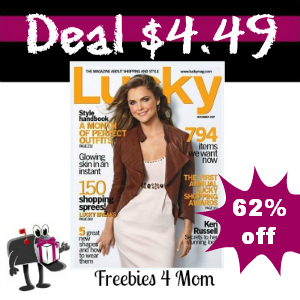 Deal $4.49 for Lucky Magazine