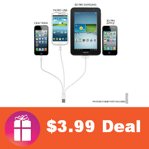 Deal $3.99 4-in-1 USB Cable (was $49.99)