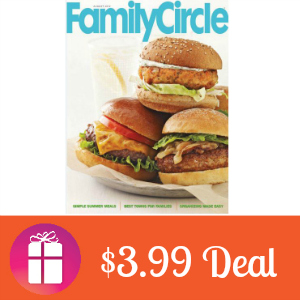 Deal $3.99 for Family Circle Magazine