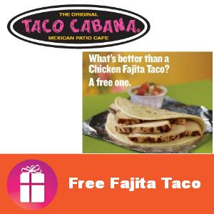 Free Fajita Taco at Taco Cabana