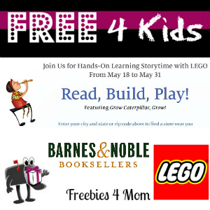 Free Hands-On Learning Storytime with LEGO at Barnes & Noble
