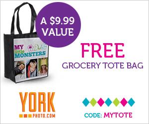 FREE York Photo Tote Bag ($3.99 shipping)