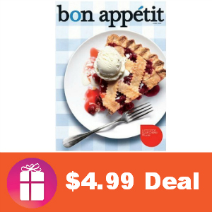Deal $4.99 for Bon Appetit Magazine